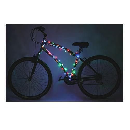 DLLL Multicolored Waterproof Bike Bicycle Motorbicycle Wheel Light Tire Light/20LED Waterproof Bike Mountain Bike Bicycle Racing Cycling Light Accessory (Multicolored)