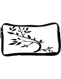 Snoogg Design Element Graphic Drawing Of A Brunch With LeavesPoly Canvas Student Pen Pencil Case Coin Purse Utility...