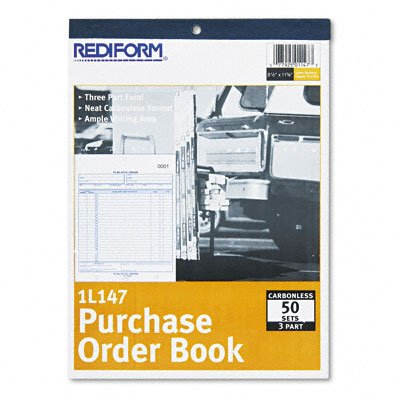 Rediform Purchase Order Book, Bottom Punch, Letter, Three-Pa