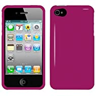 Amzer 90585 Injecto Snap On Hard Case - Hot Pink For IPhone 4S