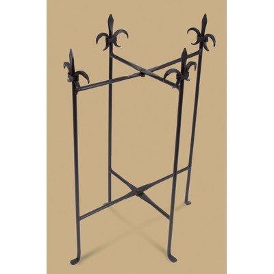 Fleur-De-Lis Iron Stand for Oval Tub