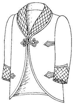 Men's Vintage Reproduction Sewing Patterns 1901-09 Roosevelt Lounging or Smoking Jacket Pattern $20.95 AT vintagedancer.com