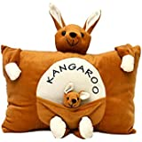 Funny Teddy Baby Cushion/ Soft Stuffed Plush Toy/ Pillow/ (Brown)
