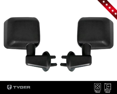 TYGER® 2007-2016 Jeep Wrangler JK OE-Style Replacement Mirrors Manual Adjust Glass – Pair