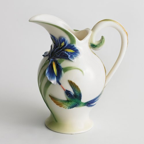 Franz Porcelain Long Tail Hummingbird Creamer