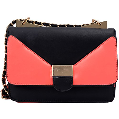 Super Drool Peach And Black Sling Bag