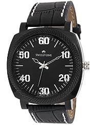Swisstone GR0021-BLACK Black Dial Black Strap Analog Wrist Watch For Men/Boys