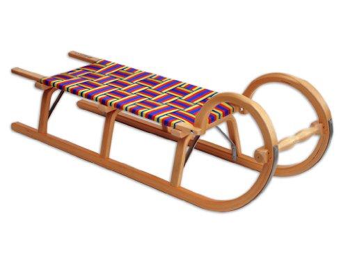 Ress Gebirgsrodel 115 cm Gurtsitz, natur lackiert, Qualität Made in Germany