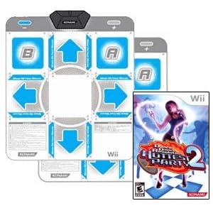2x Original Konami Dance Pads + Nintendo Wii DDR Hottest Party 2