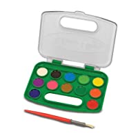 Melissa And Doug Take-Along Watercolor Paint Set (12 Colors)
