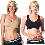 New Yoga Sports 3pcs Set Genie Bra W/pads White Beige & Black Sz S-XXXL in Box (XL)