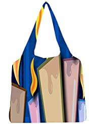 Snoogg Candles Light 2454 Womens Jhola Shape Tote Bag