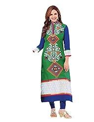 Stylish Dress With Cotton Top And Cotton Bottom And Naznin Dupatta - B0191QR1YG
