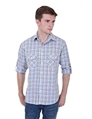 Skatti Pure Cotton Multi Color Full Sleeves With Two Pocket Check Shirt