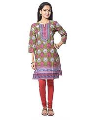 Green Printed Cotton Salwar Suit