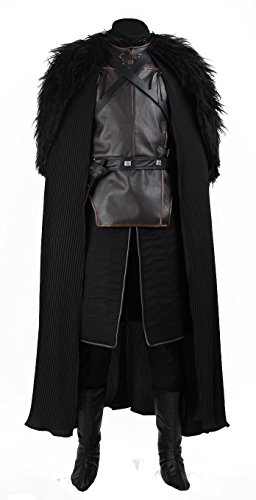 Game of Thrones Cosplay Costume Jon Snow Outfit With Coat Halloween