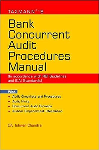 Bank Concurrent Audit Procedures Manual (September 2016 Edition)