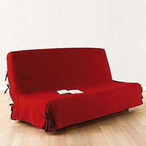 Sofa bed Futon cover 100 % cotton colour RED Amazon Kitchen & Home