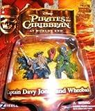 Pirates of the Caribbean At World's End Pirate Captians & Crews Captian Davy Jones and Wheelback Figure Set