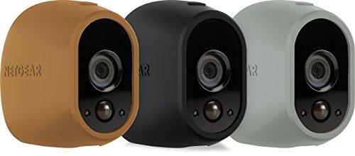 Netgear Arlo Pack de 3 Housses en silicone pour Caméra HD Marron/Noir/Gris