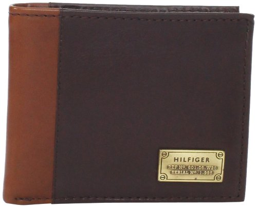 Tommy Hilfiger Men's Melton Passcase Billfold, Brown, One Size
