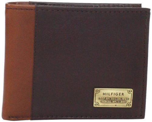 Tommy Hilfiger Men's Melton Passcase Billfold, Brown, One Size