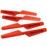 RC Quadcopter GPtoys H2O Aviax Blade GP016, AMOSTING Drone Main Propeller Replacement Pack - Orange ( 4 PCS)