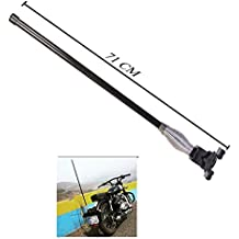 R.J.VON - Real Decorative Motorcycle Antenna Big Size (L*71CM) Black Color For - Royal Enfield Bullet Classic...