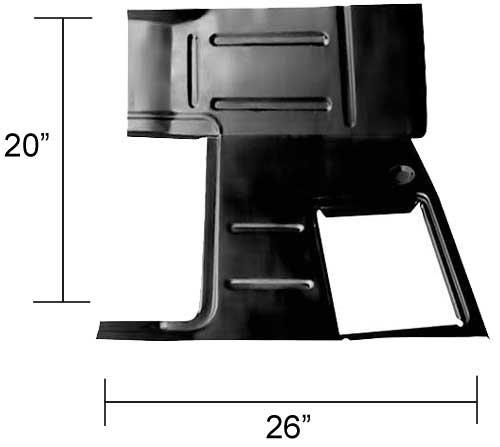47-55 GM Truck ('55 1st Design) Floor Pan/Toe Board – RH