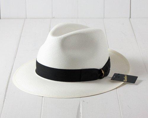 (ボルサリーノ) Borsalino イタリア製 ファイン本パナマハット 140338 オフホワイト 61cm パナマ帽 エクアドル産 大きいサイズ メンズ 男性 帽子