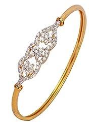 The Jewelbox American Diamond CZ Trio Nakshatra Openable Kada Bangle Bracelet