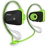Jabees LAT-Bsport-GRN BSport Bluetooth CSR V4.1 Sweatproof Sports Stereo Headphones With NFC&ATPX Green
