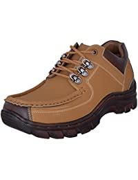 Marshal Men's Tan Nubuck Leather Casual Shoes Boots