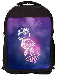 Snoogg Cartoon Cute Fly Backpack Rucksack School Travel Unisex Casual Canvas Bag Bookbag Satchel
