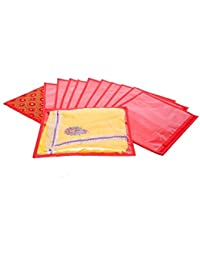 Kuber Industries Single Packing Quilted Bandhani Saree Cover Set Of 12 Pcs