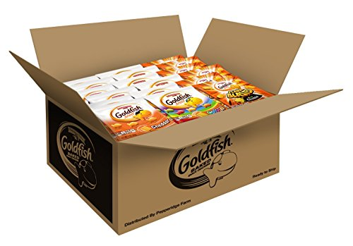 Pepperidge Farm Goldfish Crackers 40 Count Variety Pack, 37.6 Ounce