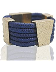 Malana Blue & White Alloy Futuristic Bracelet For Women