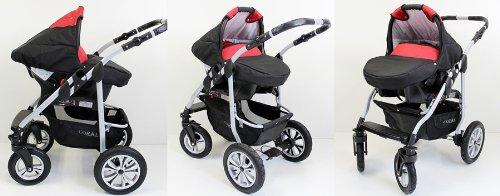 Kinderwagen Coral - Kombikinderwagen 3 in 1 Komplettset