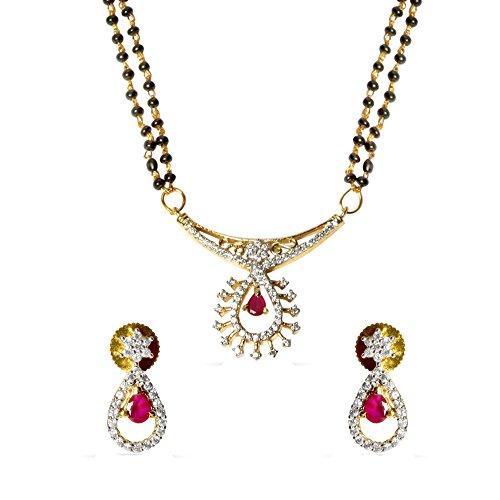 Sheetal Jewellery Silver & Golden Brass & Alloy Mangalsutra For Women - B00TIGYW1K