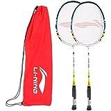 Li-Ning Basic Q Series Badminton Racquet With Grip Pack Of 2