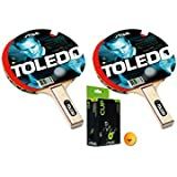 Stiga Toledo Table Tennis Racket And Stiga Cup Table Tennis Balls- TT Kit