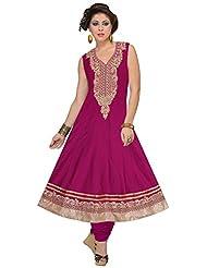 Elan Vital Women's Silk Cotton Anarkali Salwar Suit - B0188YH4H6