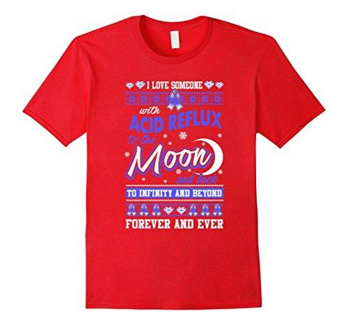 Men's Acid Reflux Awareness Christmas Shirt For Women/Men Large Red 1