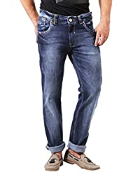 Spykar Dark Blue Washed Slim Fit Jeans By Trendzy Store