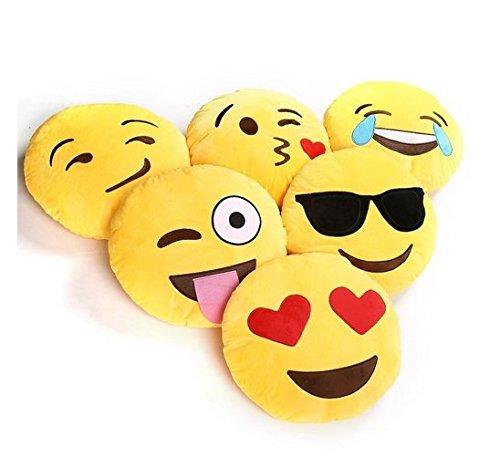 LIFECART Émoticônes Emoji tour oreiller coussin en peluche en peluche doux visage...
