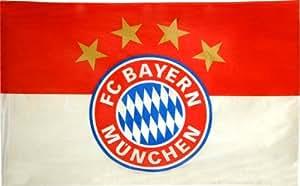 Flagge Fahne FC Bayern München Logo 100x150 cm: Amazon.de
