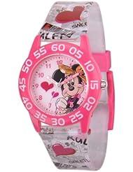 Disney Kids' W001247 Minnie Mouse Plastic Time Teacher Printed Grey Strap Watch