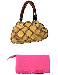 SRI Imported Fancy Designer Combo Of Handbag With Clutch For Girls And Women