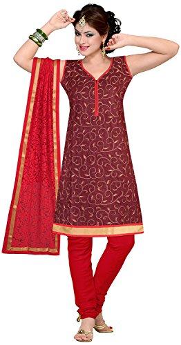 Elan Vital Women's Silk Cotton Straight Salwar Suit - B0188YGKRG