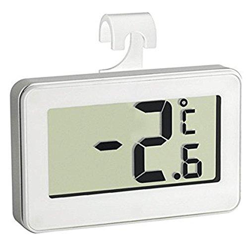 Thermomètre de Frigo Electronique - Triple système d'accroche : crochet, support, magnétique. Sonde intégrée